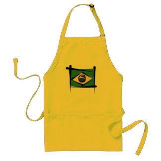 Brazil Brush Flag Standard Apron