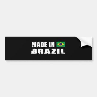 BRAZIL CAR BUMPER STICKER