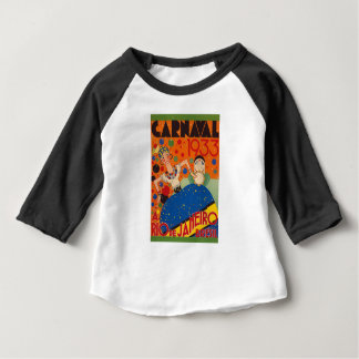 Brazil Carnival 1933 Vintage World Travel Poster Baby T-Shirt