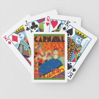 Brazil Carnival 1933 Vintage World Travel Poster Bicycle Playing Cards