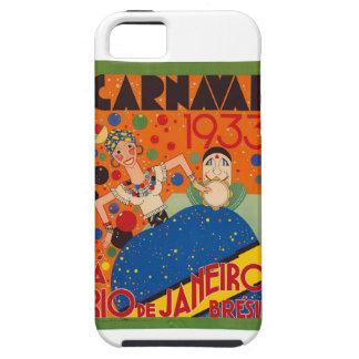 Brazil Carnival 1933 Vintage World Travel Poster iPhone 5 Case