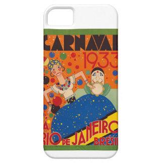 Brazil Carnival 1933 Vintage World Travel Poster iPhone 5 Cases