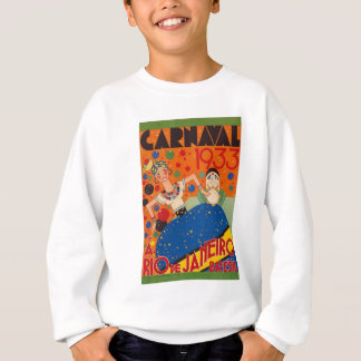 Brazil Carnival 1933 Vintage World Travel Poster Sweatshirt