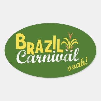 Brazil Carnival ooah! Oval Sticker
