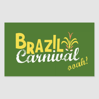 Brazil Carnival ooah! Rectangular Sticker