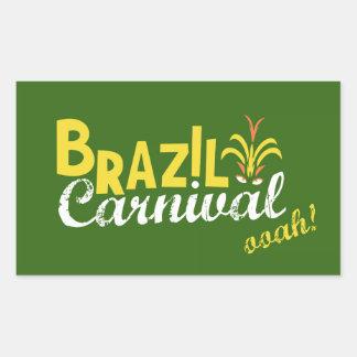 Brazil Carnival ooah! Rectangular Sticker