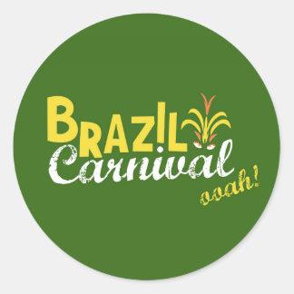 Brazil Carnival ooah! Round Sticker