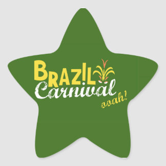 Brazil Carnival ooah! Star Sticker
