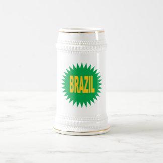 BRAZIL catches Beer Stein