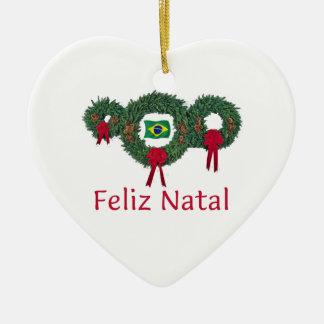 Brazil Christmas 2 Ceramic Ornament