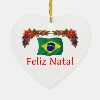 Brazil Christmas Ceramic Ornament