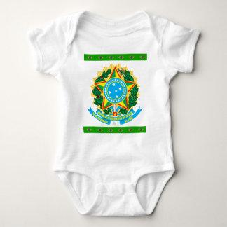 Brazil coat of arms baby bodysuit