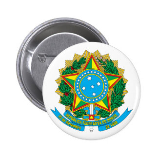 Brazil Coat of Arms Button