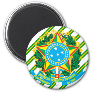 Brazil coat of arms magnet