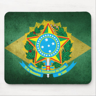 Brazil coat of arms mouse pad