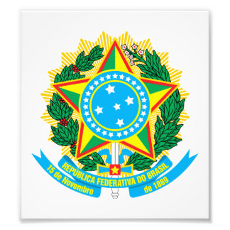 Brazil Coat Of Arms Photograph