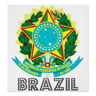Brazil Coat of Arms Posters