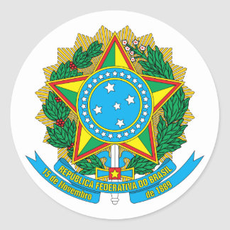 Brazil Coat of Arms Sticker