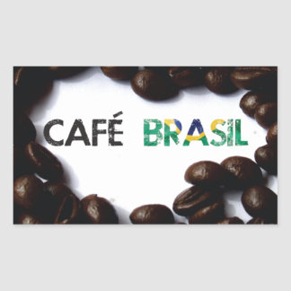 Brazil coffee rectangular sticker