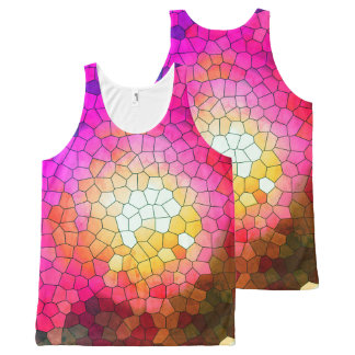 Brazil collection - Thewalk- Pink version- Unissex All-Over Print Singlet