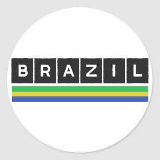 Brazil Colors design! Classic Round Sticker