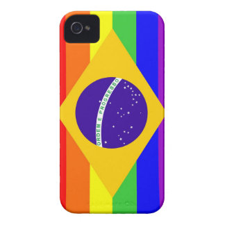 brazil country gay proud rainbow flag homosexual iPhone 4 cover