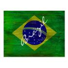 Brazil distressed Brazilian flag Postcard