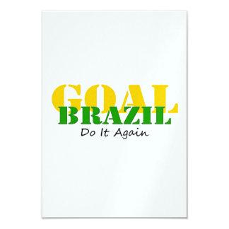 Brazil - Do It Again 9 Cm X 13 Cm Invitation Card