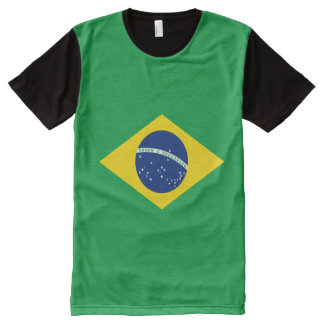 Brazil Flag All-Over-Print T-shirt