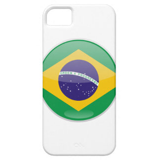 Brazil Flag Button iPhone 5 Cases