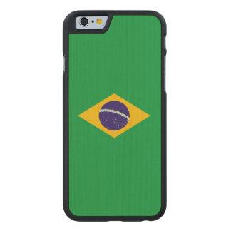 Brazil Flag Carved® Maple iPhone 6 Slim Case