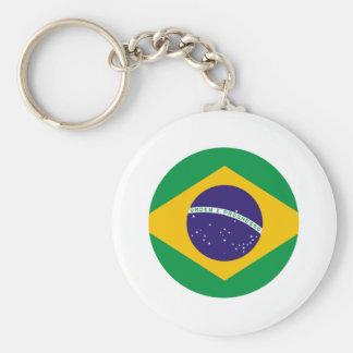 Brazil Flag Circle The MUSEUM Zazzle Key Chain