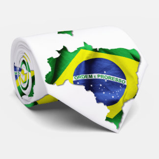 Brazil Flag Country Tie