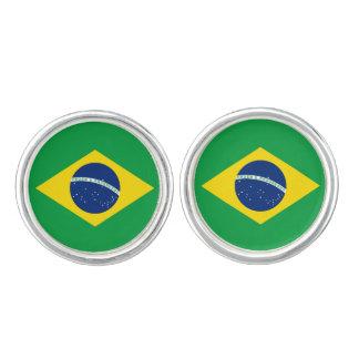 Brazil Flag Cuff Links