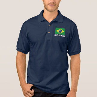 Brazil flag custom polo shirts for men and women