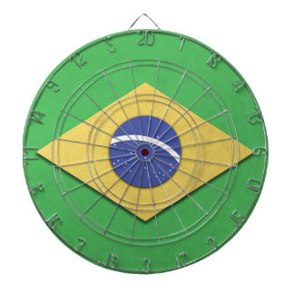 Brazil Flag Dart Board