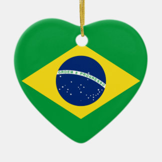 brazil flag design ceramic ornament