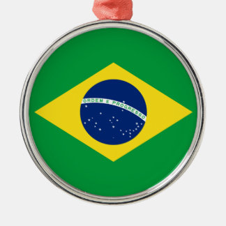 brazil flag design metal ornament