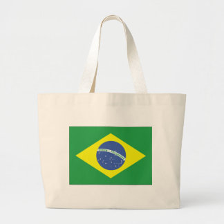 Brazil Flag Design Jumbo Tote Bag