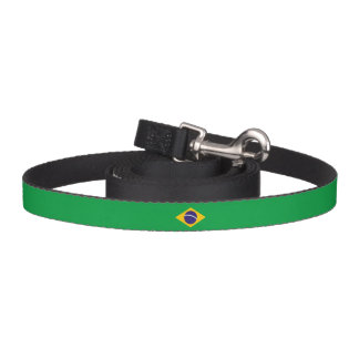 Brazil Flag Dog Lead