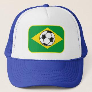 Brazil Flag | Football Sketch Trucker Hat
