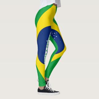 Brazil Flag full Leggings