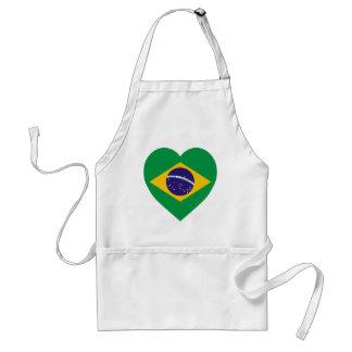 Brazil Flag Heart Standard Apron