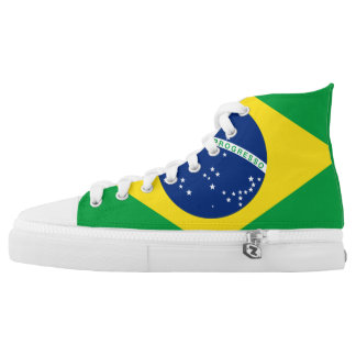 Brazil Flag High Top Shoes