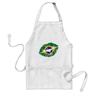 Brazil flag kiss apron