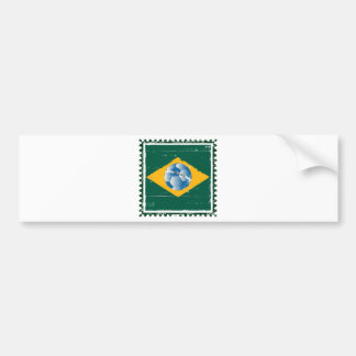Brazil flag like stamp in grunge style bumper stickers