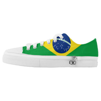 Brazil Flag Low Top Shoes
