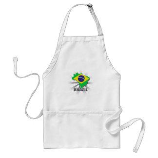 Brazil Flag Map 2.0 Apron