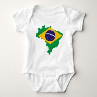 brazil flag map baby bodysuit
