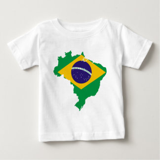 brazil flag map baby T-Shirt